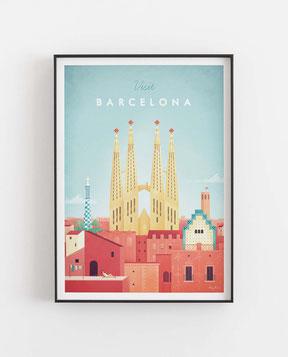 Schöne Orte Barcelona Poster im skandinavischen Stil