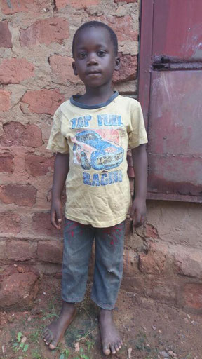 Philemon Mulindwa. Aged 5 yrs