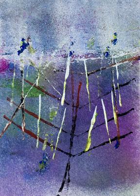Resonanzen, 2018, tecnica mista, 10 x 13 cm