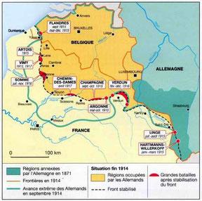 Zones occupées par les Allemands. Source: 87dit.canalblog.com