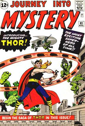 Première apparition de Thor dans Journey Into Mystery N°83 (Aout 1962)