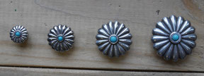 Conchos ronds turquoise