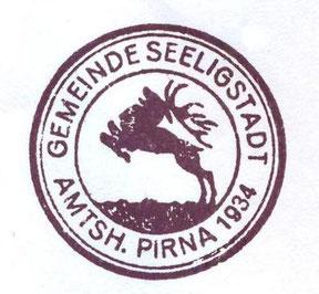 Seeligstadt Stempel um 1934