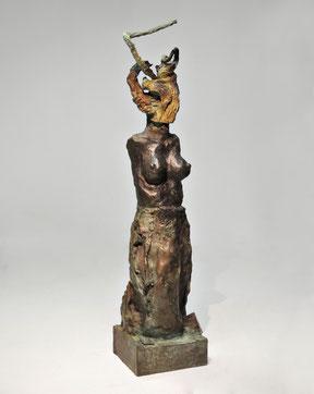 Figur 275, Bronze, 2015, 37,5x9,5x8cm