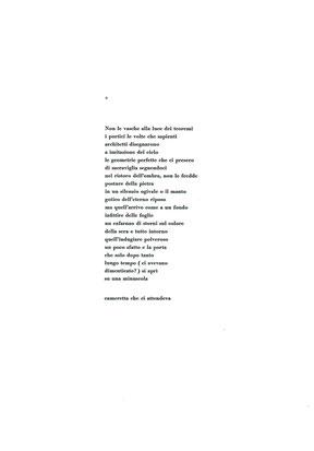 pagina con testo tipografico composto e stampato a mano