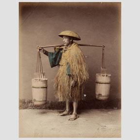 Felice Beato,  Coolie (Watercarrier)