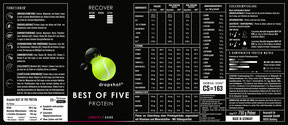dropshot BEST OF FIVE Himbeere/Quark Etikett