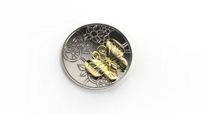 Astre minute papillon en or. La fabrication est française.