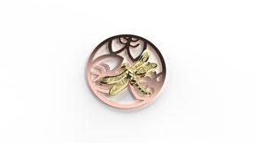 Astre libellule en or. La fabrication est française.