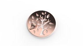 Astre la légende d'automne en or, représente un arbre de vie stylisé en fonction d'une saison. La fabrication est française.
