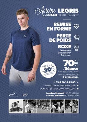 Tarif coach sportif PARIS 75001 a domicile