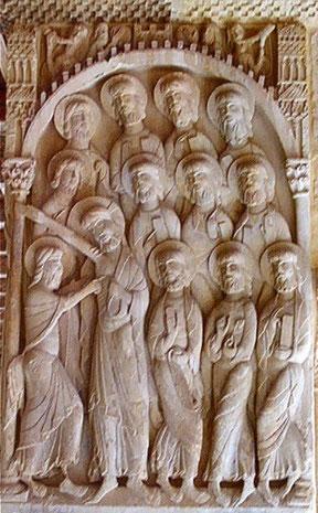 Ejemplo de escultura románica. Monasterio de Silos. Fuente: desconocida.