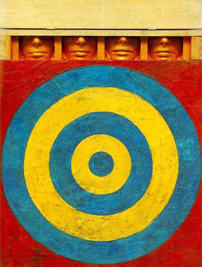 'Target with Plaster Casts' -Jasper Johns (1955).
