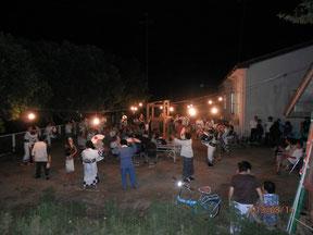 地区合同の初盆供養で踊られる方々。2013,08,14