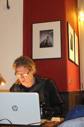 Matthias A.J. Dachwald bei der Lesung