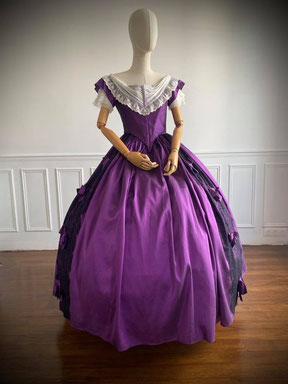 robe de bal second empire chateau Pierrefonds