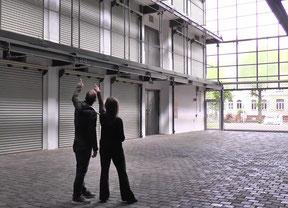 Die offene Architektur der Großgarage Süd in Halle (Saale) wirkt sehr einladend und lässt unsere kreativen Ideen direkt fließen.