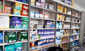 Anaqueles para farmacia, muebles para farmacia