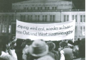 Montagsdemonstration in Leipzig