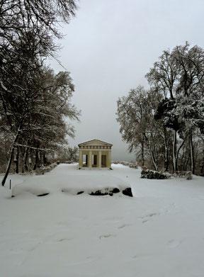 Belvedere im Schnee