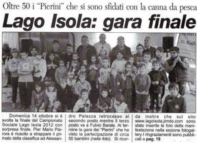 Corriere di Savigliano 25 Ott. 2012