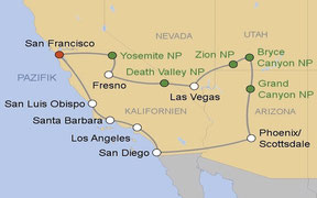 Mietwagenrundreise Südwesten USA