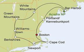 Mietwagenreise von Boston durch Neuengland
