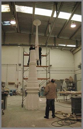 """Columna para Monumento """"Gran Atractor"""", Parque Lineal del Manzanares. Modelo de Fundición."""