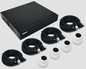 HDCVI, Videoüberwachungsset, 2MP, FullHD, Mini Dome, Innenkamera, Dahua, 4-Kanal DVR, Digitalvideorekorder, günstig, über SafeTech lieferbar
