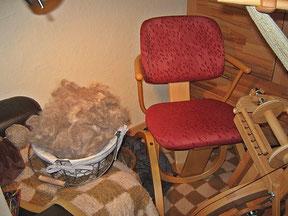 dann ist die Wolle bereit und kann versponnen werden