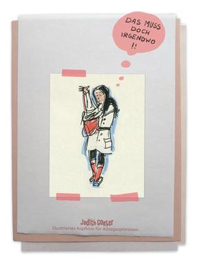 Zeichung Frau Handtasche SUCHEN - Judith Ganter - Illustriertes Kopfkino für Alltagsoptimisten - Tagebuchprojekt Achtsamkeit - 9 KREATIVE IDEEN FÜR MEHR ACHTSAMKEIT IN DEINEM ALLTAG - INSPIRATION FÜR DEIN EIGENES TAGEBUCH