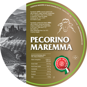 maremma sheep sheep's cheese dairy pecorino caseificio tuscany tuscan spadi follonica label italian origin milk italy fresh classic