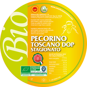 maremma sheep sheep's cheese dairy pecorino caseificio tuscany tuscan spadi follonica label italian origin organic milk italy matured aged pdo certified biological bio logo