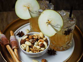 Spicy Pear Cocktail, würziger Birnen Cocktail