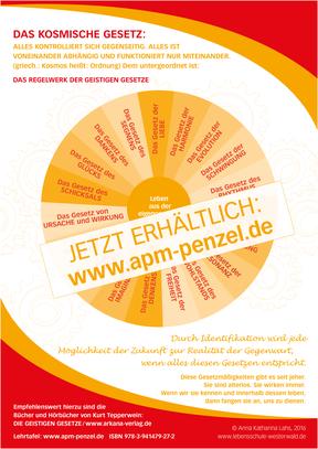 Lehrtafel Das Regelwerk der Geistigen Gesetze von Anna Katharina Lahs im Penzel Verlag