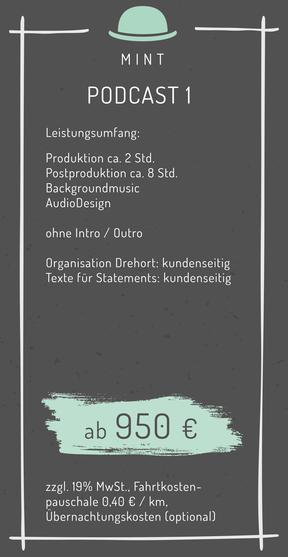 Preise Podcast Film Infofilm Erklärfilm Werbeproduktion Passau Bayern Kosten Kalkulation Angebot