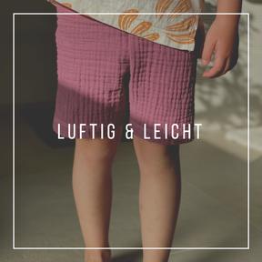 süße handgefertigte Babyshorts aus gewebter Baumwolle mit tollen Motiven