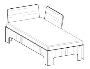 Option: Rücklehnen ─ das Bett wird zum Sofa