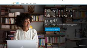 Exemple de bouton sur la page d'accueil Jimdo