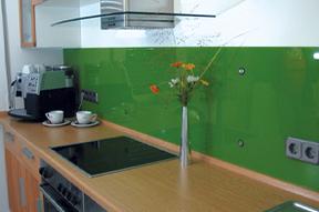 Verglasung von Küchenrückwänden