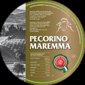 maremma pecora formaggio pecorino caseificio toscano toscana spadi follonica etichetta italiano origine latte italia fresco classico