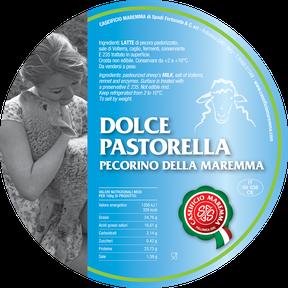 maremma pecora formaggio pecorino caseificio toscano toscana spadi follonica etichetta italiano origine latte italia fresco dolce pastorella
