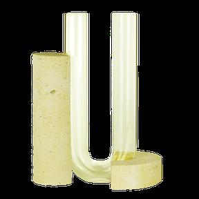 yellow organic vase wabi sabi