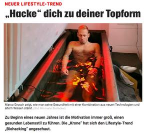 Artikel Kronen Zeitung Minimalist Biohacker