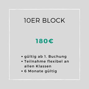 10 er Block für Schüler und Studenten 135 €