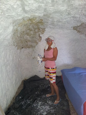 Working in a cave house