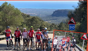 """Pentes très sévères pour atteindre le """"Castell d'Escornalbou""""           Mais quelle vue...!!"""