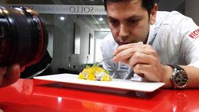 Restaurante Sollo レスタウランテ・ソーリョのシェフ Diego Gallegos ディエゴ・ガリェーゴス氏 (www.diariodegastronomia.com)