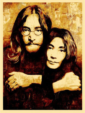 Shepard Fairey John and Yoko