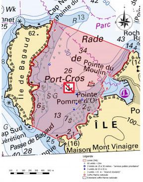 Location bateau reglementataion Port-Cros mouillage ancre